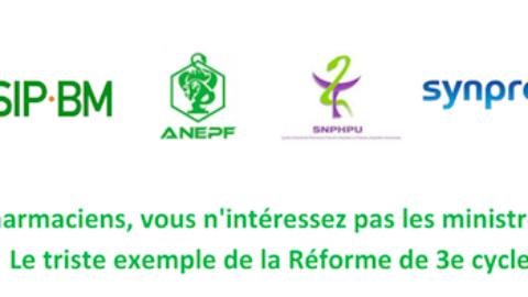 CDP Commun – Pharmaciens vous n'intéressez pas les ministres – Le triste exemple de la R3C pharmacie