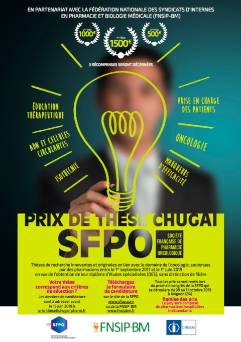 Prix de Thèse Chugai-SFPO 2019