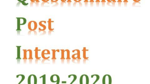 Questionnaire Post-Internat 2019 – 2020 – Biologie Médicale